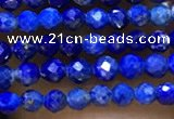 CTG1075 15.5 inches 2mm faceted round tiny lapis lazuli beads