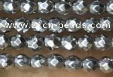 CTG1084 15.5 inches 2mm faceted round tiny hematite beads
