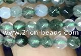 CTG1115 15.5 inches 3mm faceted round tiny moss agate beads