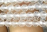CTG1123 15.5 inches 3mm faceted round tiny white crystal beads