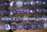CTG1141 15.5 inches 3mm faceted round tiny iolite gemstone beads