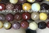 CTG1182 15.5 inches 3mm faceted round tiny mookaite gemstone beads
