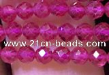 CTG1197 15.5 inches 3mm faceted round tiny quartz glass beads