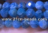 CTG1215 15.5 inches 4mm faceted round tiny apatite gemstone beads