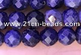 CTG1335 15.5 inches 4mm faceted round sapphire beads wholesale