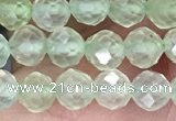 CTG1349 15.5 inches 5mm faceted round prehnite beads wholesale