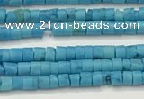 CTG1372 15.5 inches 1.5*2mm heishi tiny blue turquoise beads