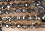 CTG1408 15.5 inches 2mm faceted round smoky quartz beads wholesale