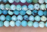 CTG1424 15.5 inches 2mm faceted round turquoise beads wholesale