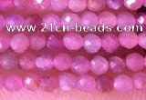 CTG1433 15.5 inches 2mm faceted round ruby gemstone beads