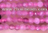 CTG1435 15.5 inches 2mm faceted round pink tourmaline beads