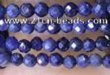CTG1448 15.5 inches 2mm faceted round sapphire beads wholesale