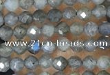 CTG1459 15.5 inches 2mm faceted round labradorite beads wholesale