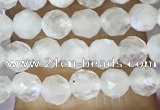 CTG1481 15.5 inches 3mm faceted round white moonstone beads