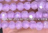 CTG1485 15.5 inches 3mm faceted round lavender amethyst beads