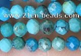 CTG1498 15.5 inches 3mm faceted round turquoise beads wholesale