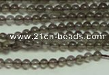 CTG150 15.5 inches 3mm round tiny smoky quartz beads wholesale