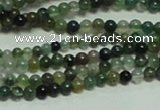 CTG156 15.5 inches 3mm round tiny moss agate beads wholesale
