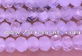CTG1603 2.5*3.5mm faceted rondelle tiny white moonstone beads