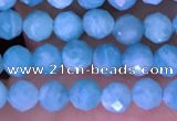 CTG1609 15.5 inches 3mm faceted round tiny amazonite beads