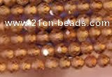 CTG2110 15 inches 2mm faceted round tiny orang garnet beads