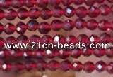 CTG2112 15 inches 2mm faceted round tiny quartz glass beads