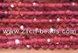 CTG2117 15 inches 2mm faceted round tiny quartz glass beads