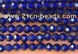 CTG2118 15 inches 2mm faceted round tiny quartz glass beads