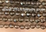 CTG2124 15 inches 2mm,3mm faceted round smoky quartz gemstone beads