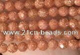 CTG2136 15 inches 2mm,3mm faceted round goldstone beads