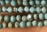 CTG2149 15 inches 2mm,3mm faceted round synthetic turquoise beads