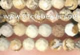 CTG2213 15 inches 2mm,3mm faceted round picture jasper beads