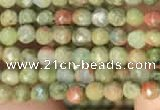 CTG2214 15 inches 2mm,3mm faceted round unakite gemstone beads