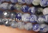 CTG2216 15 inches 2mm,3mm faceted round sodalite gemstone