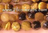CTG2222 15 inches 2mm,3mm faceted round yellow tiger eye beads