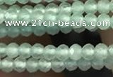 CTG2249 15 inches 2mm faceted round natural prehnite beads