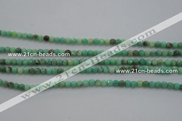 CTG225 15.5 inches 3mm faceted round tiny grass agate beads