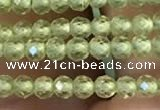 CTG2250 15 inches 2mm faceted round natural olive quartz beads