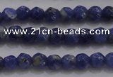 CTG227 15.5 inches 3mm faceted round tiny sodalite gemstone beads