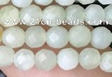 CTG2516 15.5 inches 4mm faceted round jade beads wholesale