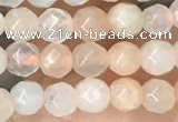 CTG2518 15.5 inches 4mm faceted round pink aventurine beads