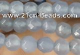 CTG2530 15.5 inches 4mm faceted round agate beads wholesale