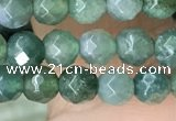 CTG2534 15.5 inches 4mm faceted round moss agate beads