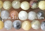CTG2536 15.5 inches 4mm faceted round crazy lace agate beads