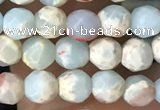 CTG3546 15.5 inches 4mm faceted round serpentine jasper beads