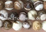 CTG3550 15.5 inches 4mm faceted round zebra jasper beads