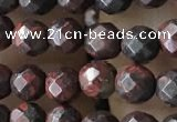 CTG3564 15.5 inches 4mm faceted round brecciated jasper beads