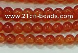 CTG37 15.5 inches 2mm round grade A tiny red agate beads wholesale