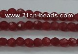 CTG404 15.5 inches 2mm faceted round tiny dyed candy jade beads