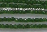 CTG416 15.5 inches 2mm faceted round tiny dyed candy jade beads